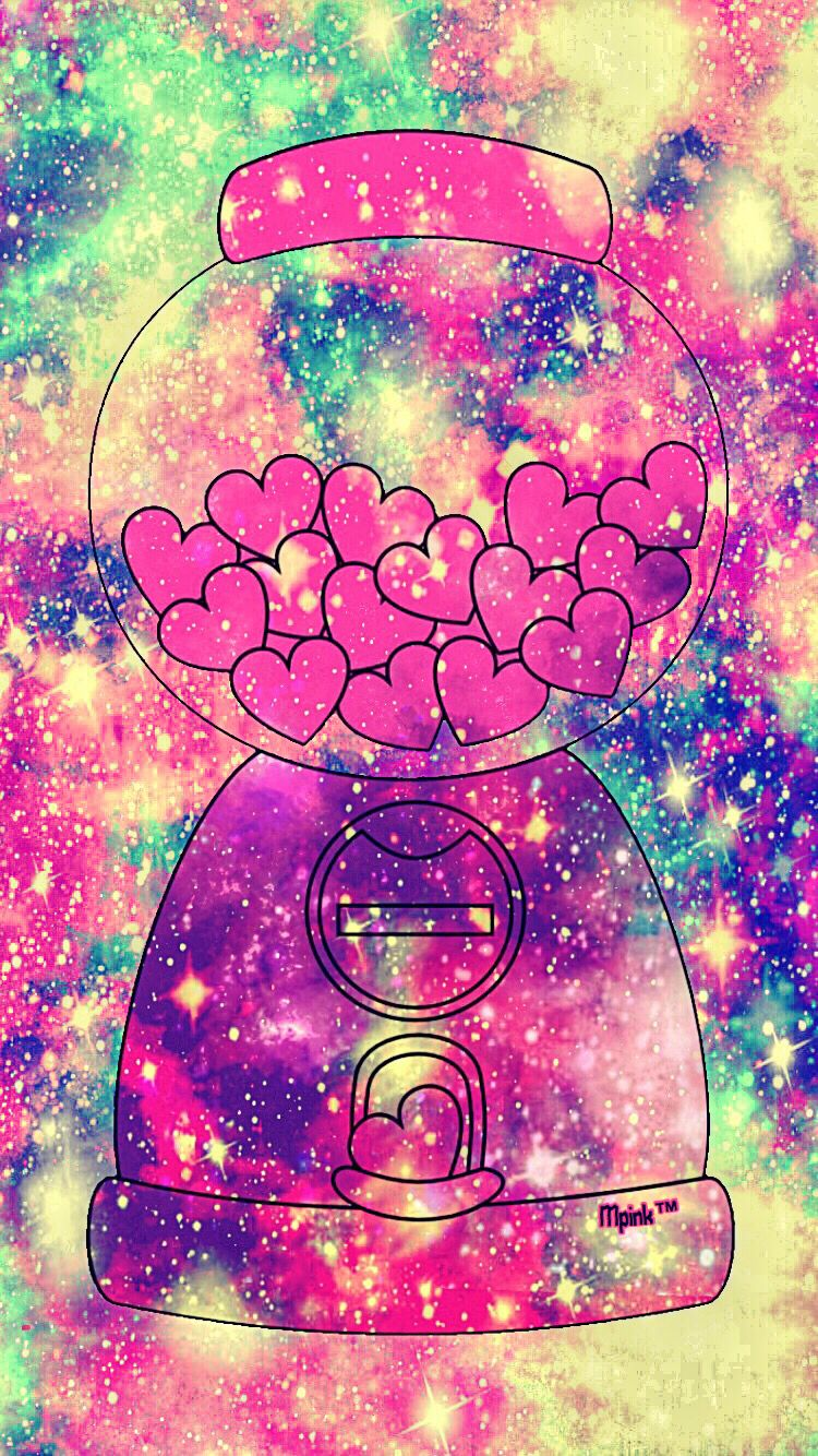 Cute Kawaii Candy Hearts Galaxy Wallpaper # ...