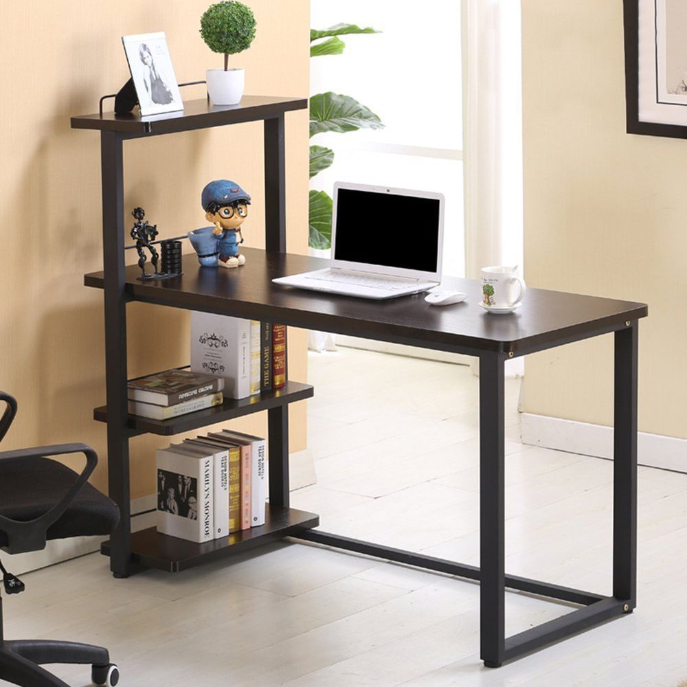 Great Simplicity Home Office Desk Computer PC Study Table Workstation Bookcase  Storage