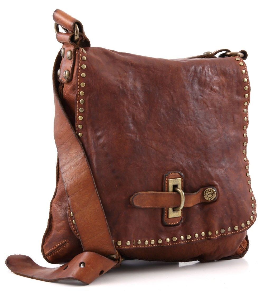 Campomaggi Lavata Shoulder Bag Leather cognac 29 cm - C1226VL-1702 | Designer Brands :: wardow.com