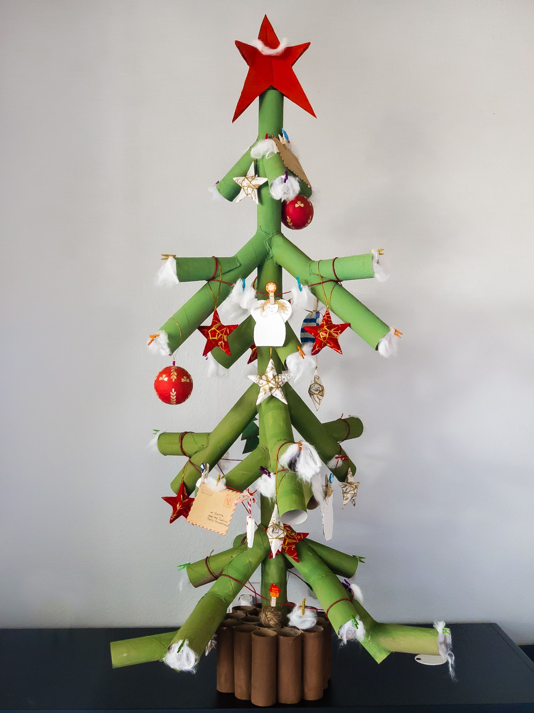 Diy Craft Toilet Paper Rolls Christmas Tree Made Out Of Toilet Paper Rolls Xmas Crafts Christmas Crafts Paper Decorations Diy