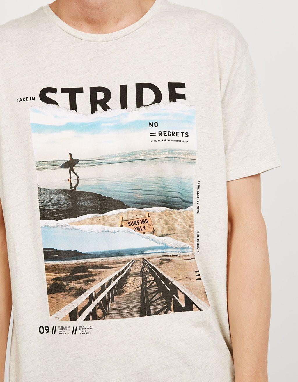 99590a0940 Camiseta  Stride  Free Style Jump  - Novedades - Bershka España  MensT- shirts