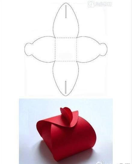 Ideas para decoraci n moldes de cajitas para regalos - Como hacer cajitas de cartulina ...