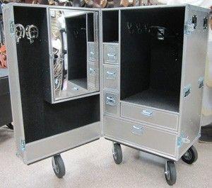Clydesdale Deluxe Aluminum 1 Door Tack Case Ecurie Armoire