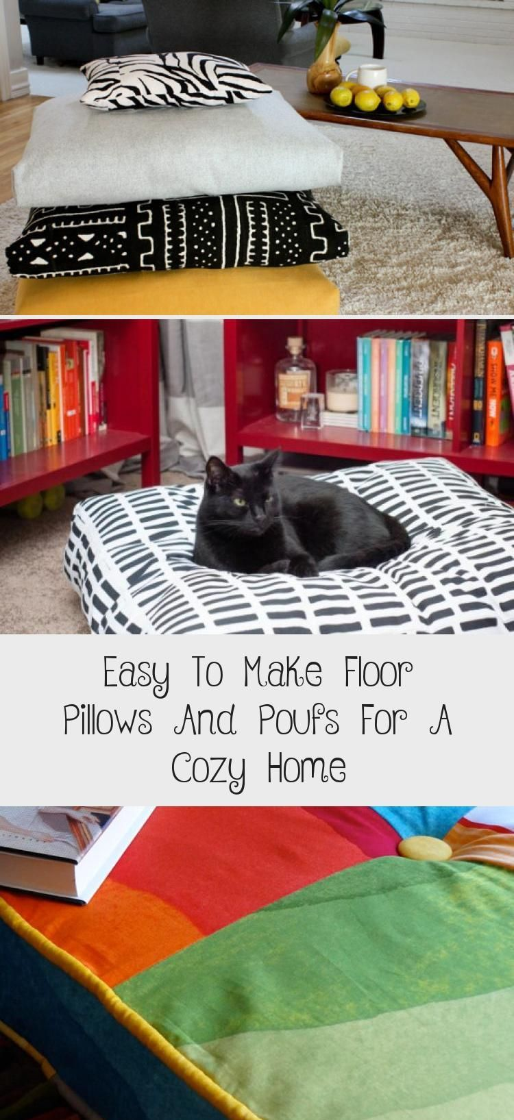 floor cushion Brilliant cheap way to make insert! Use two old pillows | big pillows