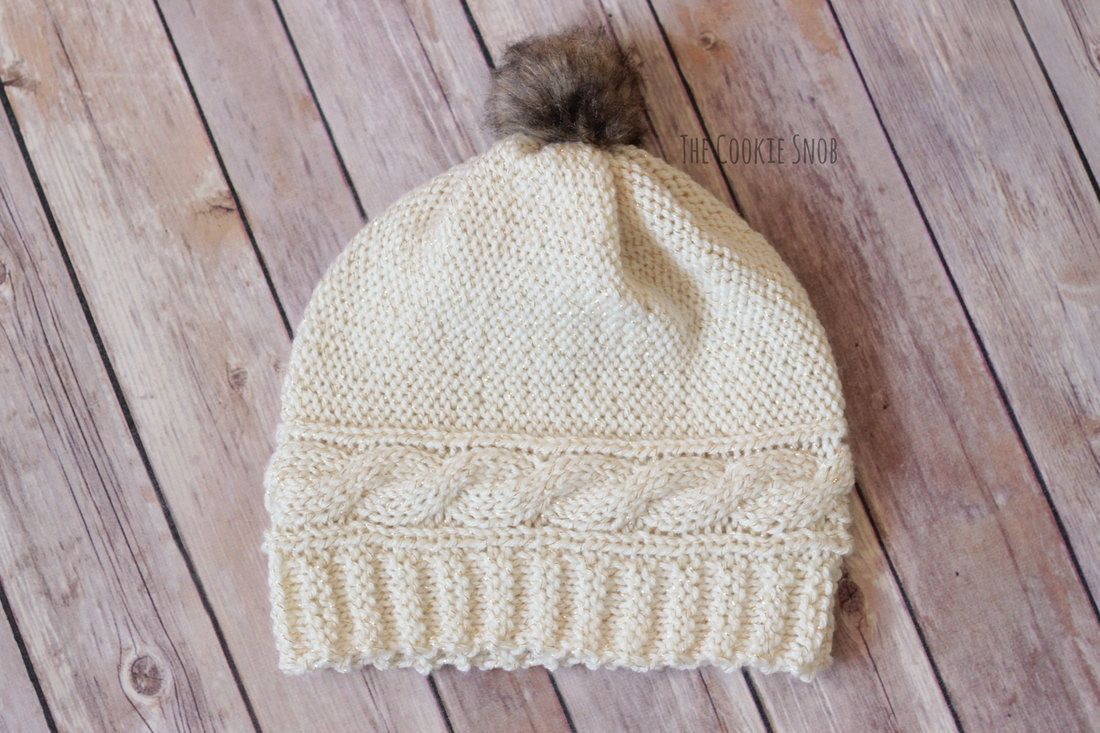 Cabled Crown Beanie Free Knit Pattern | knit Chemo hats | Pinterest ...