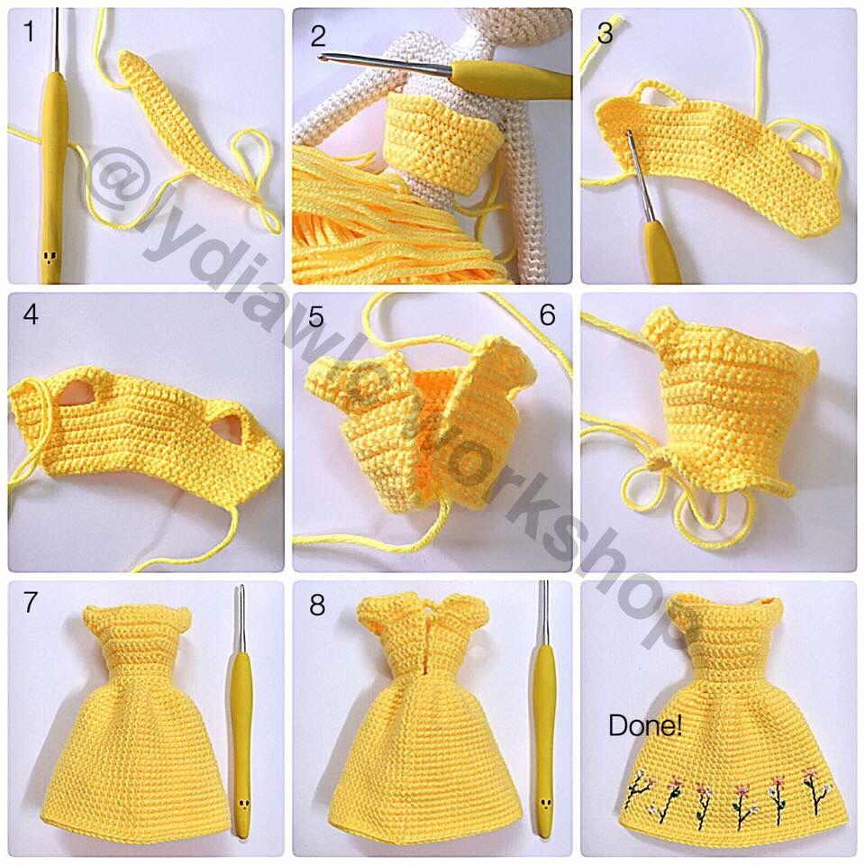 crochet | elbiseler | Pinterest | Ropa de barbie, Barbie y Muñecas