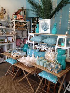 Beach Theme Retail Store Display Visual Merchandising Aqua