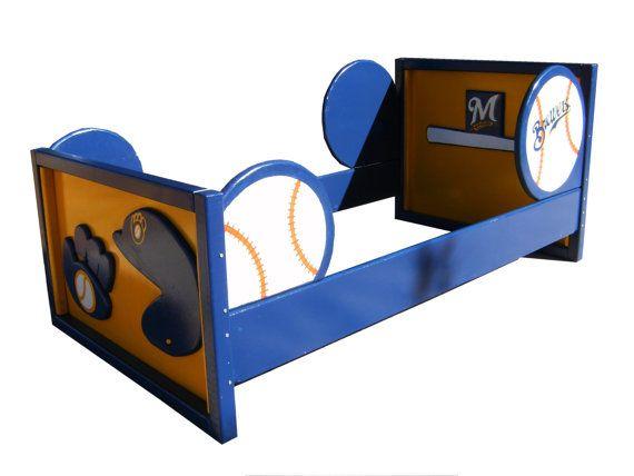 Twin Bed Frame Sports Theme Baseball Football By Sonoransandman