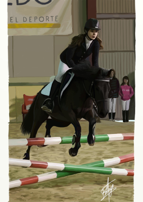 Digital illustration. horse riding #equestrian #art #digital #illustration #horse #riding #draw