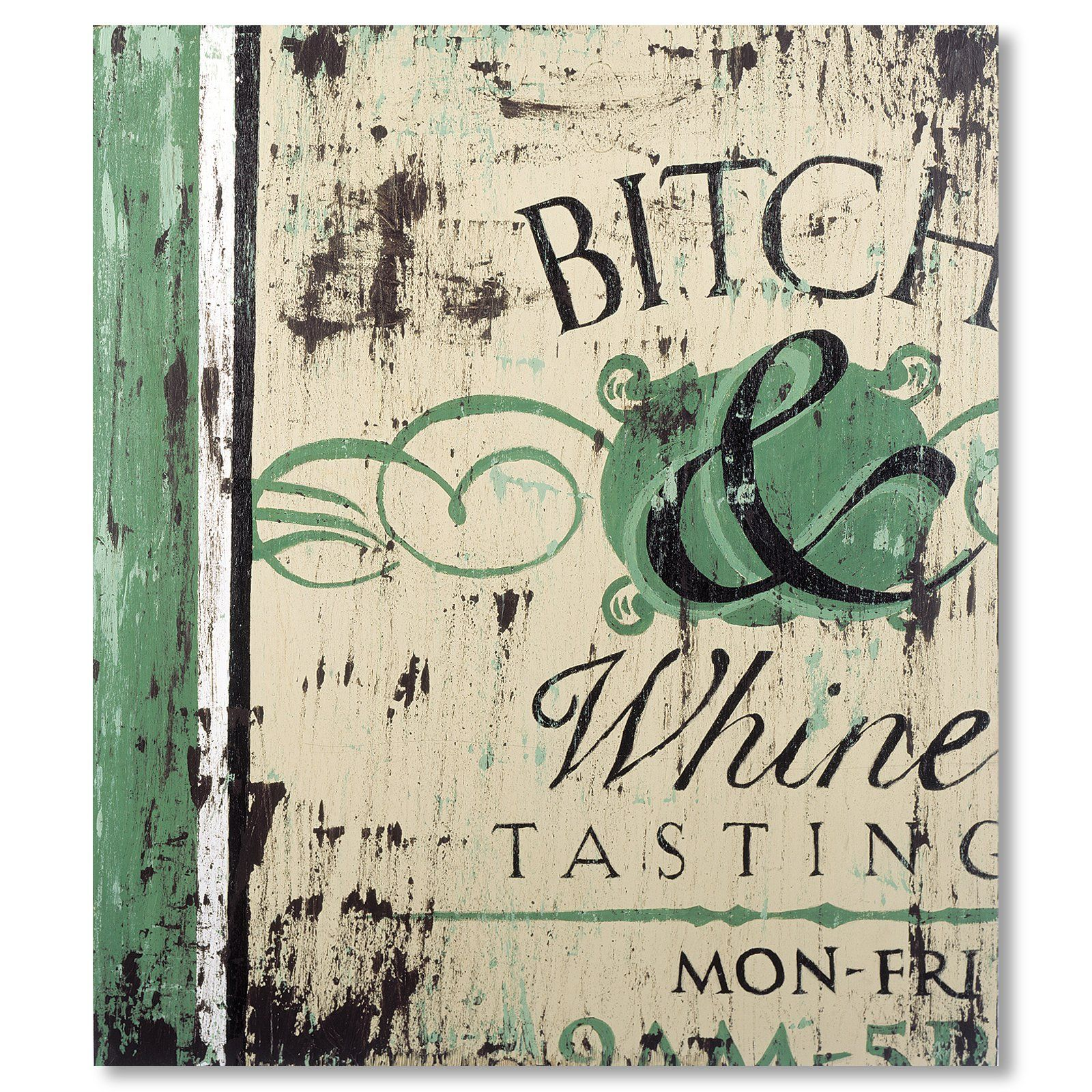 Bitch and Whine Giclee Canvas.
