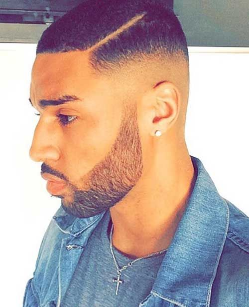 Awesome Faded Undercut Haircut For Black Men
