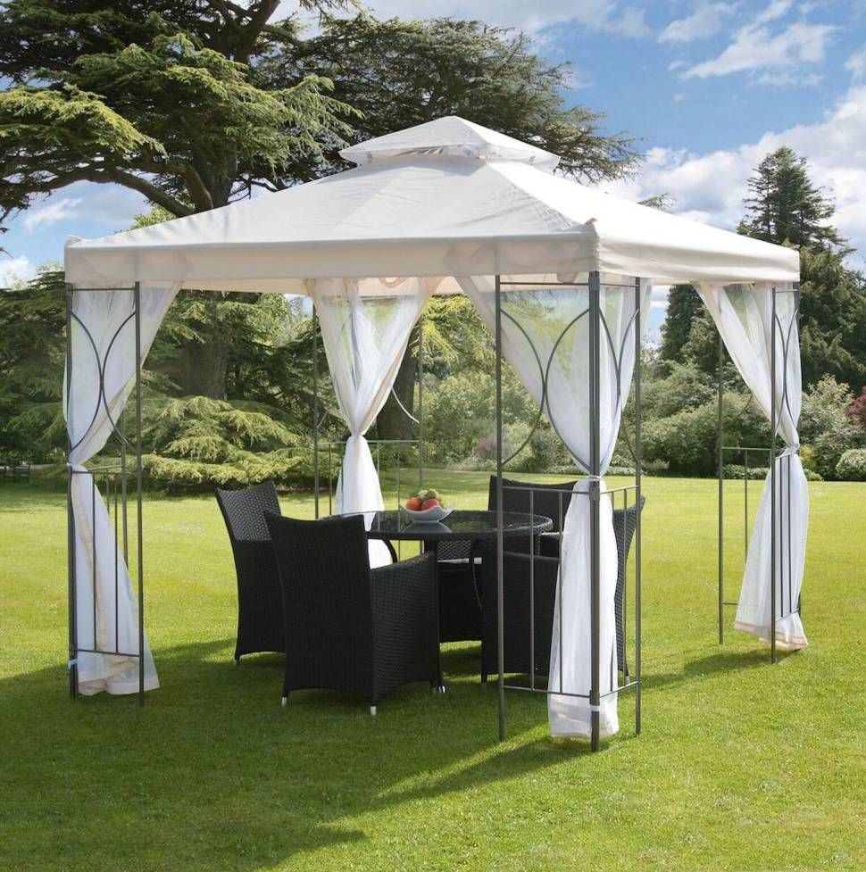 Polenza 8 Ft W X 8 Ft D Metal Patio Gazebo In 2019 Wedding Under 6000 Romanesque Steel Gazebo Gazebo Canopy Gazebo Netting