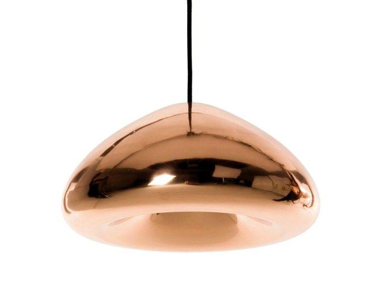 Lampada a sospensione in rame VOID LIGHT COPPER Collezione Void by Tom Dixon   design Tom Dixon