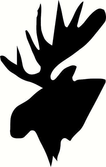 vinyl wall decal Moose head silhouette by WallDecalsAndQuotes ...