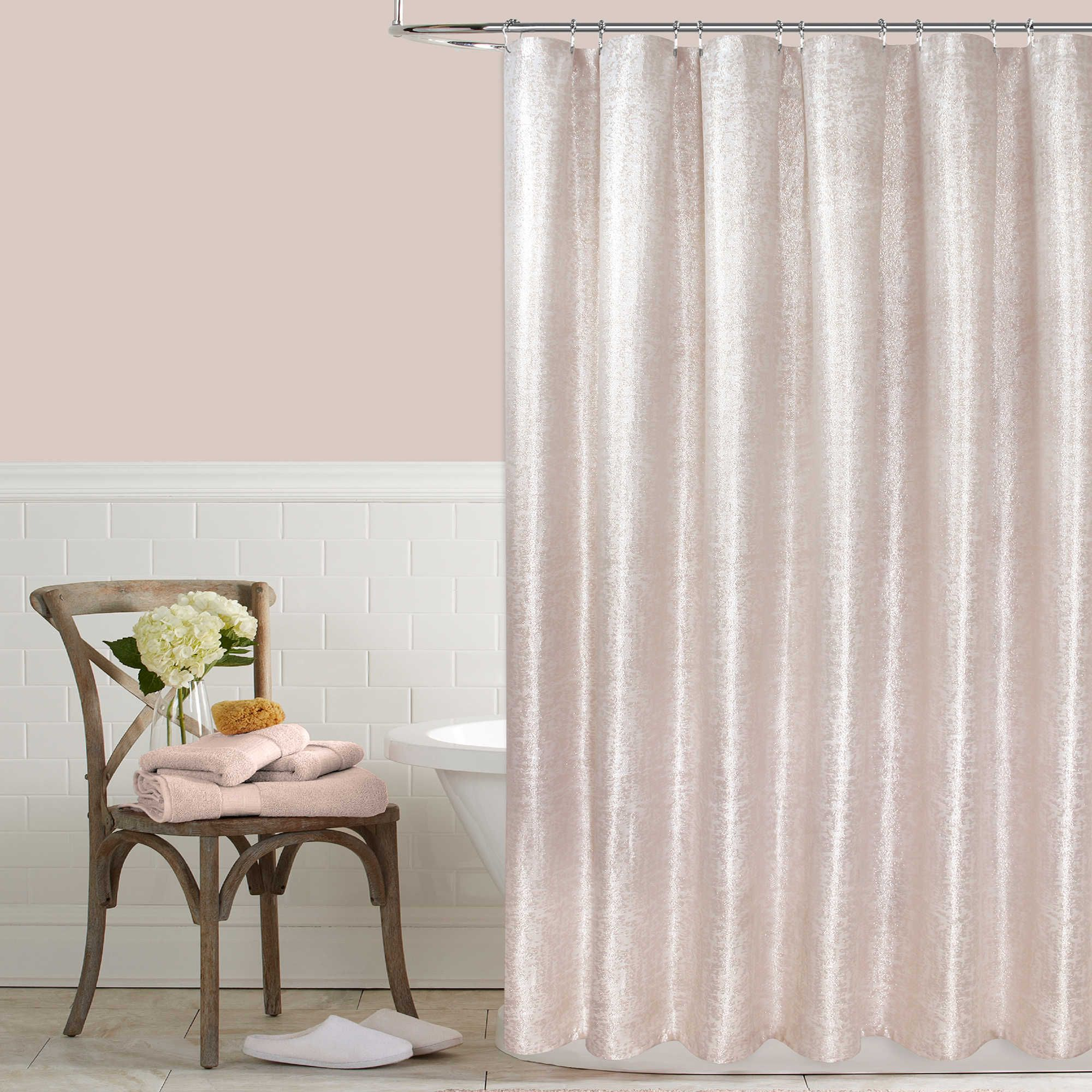 Cottage Shower Curtain Colordrift Celina Metallic Shower Curtain Collection Bathrooms