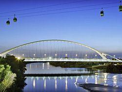 Zaragoza, Spain. Puente del Tercer Milenio