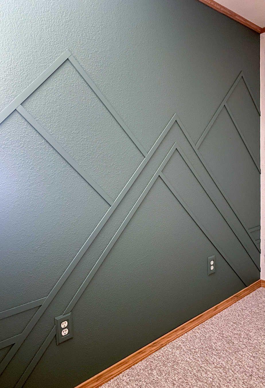Vertical Shiplap Accent Wall