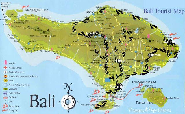 Carte De Notre Circuit Touriste Bali