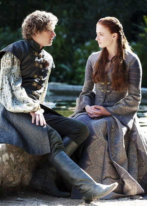 Game of Thrones:  Loras Tyrell and Sansa Stark