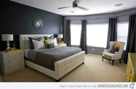 Image result for grey and yellow bedroom