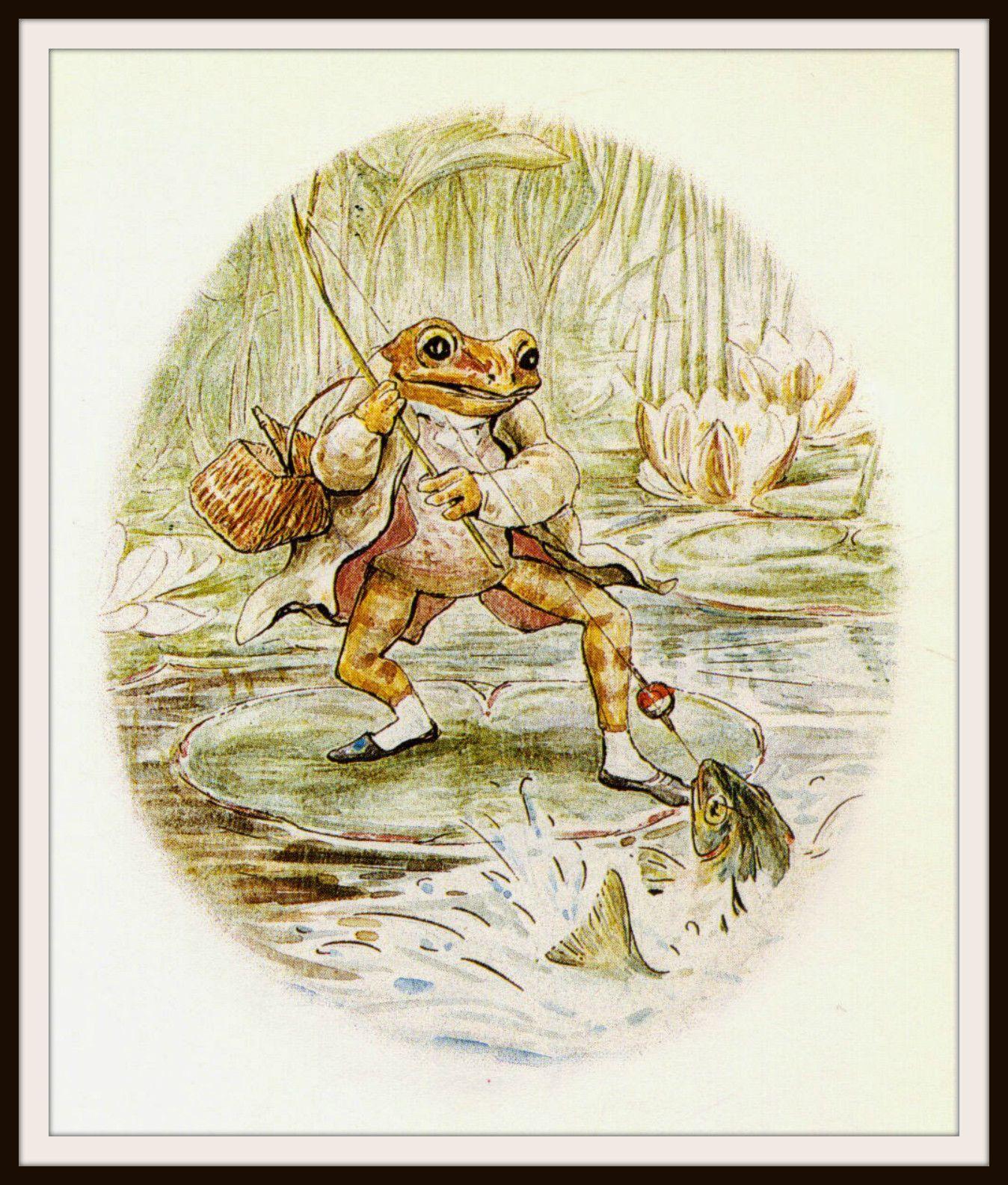 Jeremy Fisher by Beatrix Potter Art Print 8 x 10\