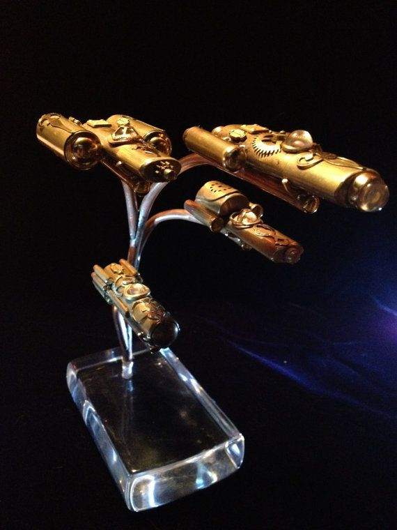 The Steampunk Starship Fleet by WillRockwell on Etsy, $600.00