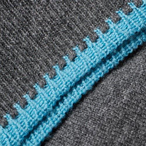 Comme des Garcons SHIRT Contrast Hem Crew Knit (Grey) | INTERLOOP ...