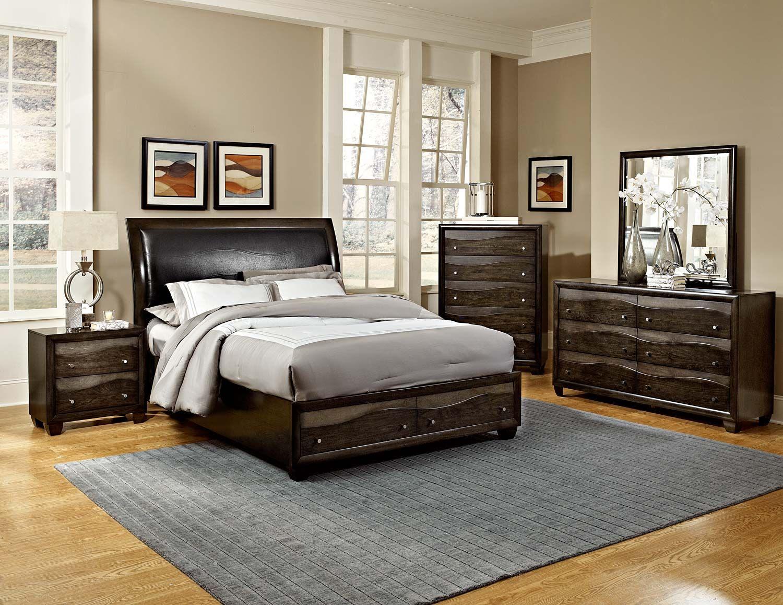Platform Bedroom Furniture Sets Homelegance Redondo Platform Bedroom Set Grey Toned Brown