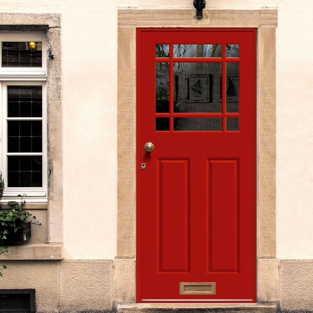 Devon unglazed exterior made to size door a popular design with 9 glass apertures above and two long raised and fielded panels below. & Made to Measure Exterior Devon Door - Fit your Own Glass | Devon ...