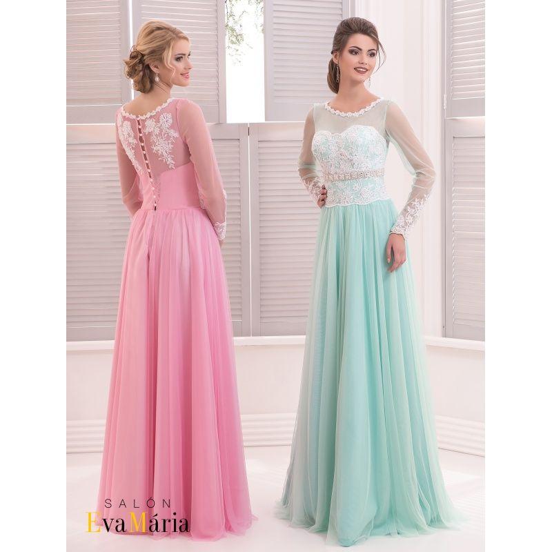 242d862f132d Krásne spoločenské šaty zdobené čipkou