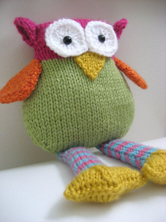 Amigurumi Knit Owl Pattern Digital Download Knitting Pinterest