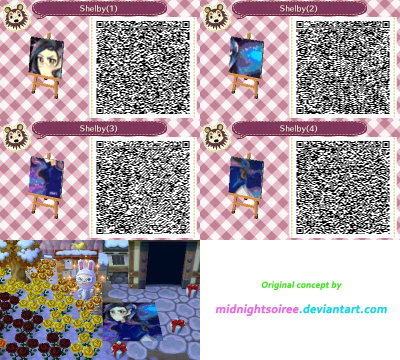Shelby mural animal crossing new leaf qr codes original for Animal crossing mural