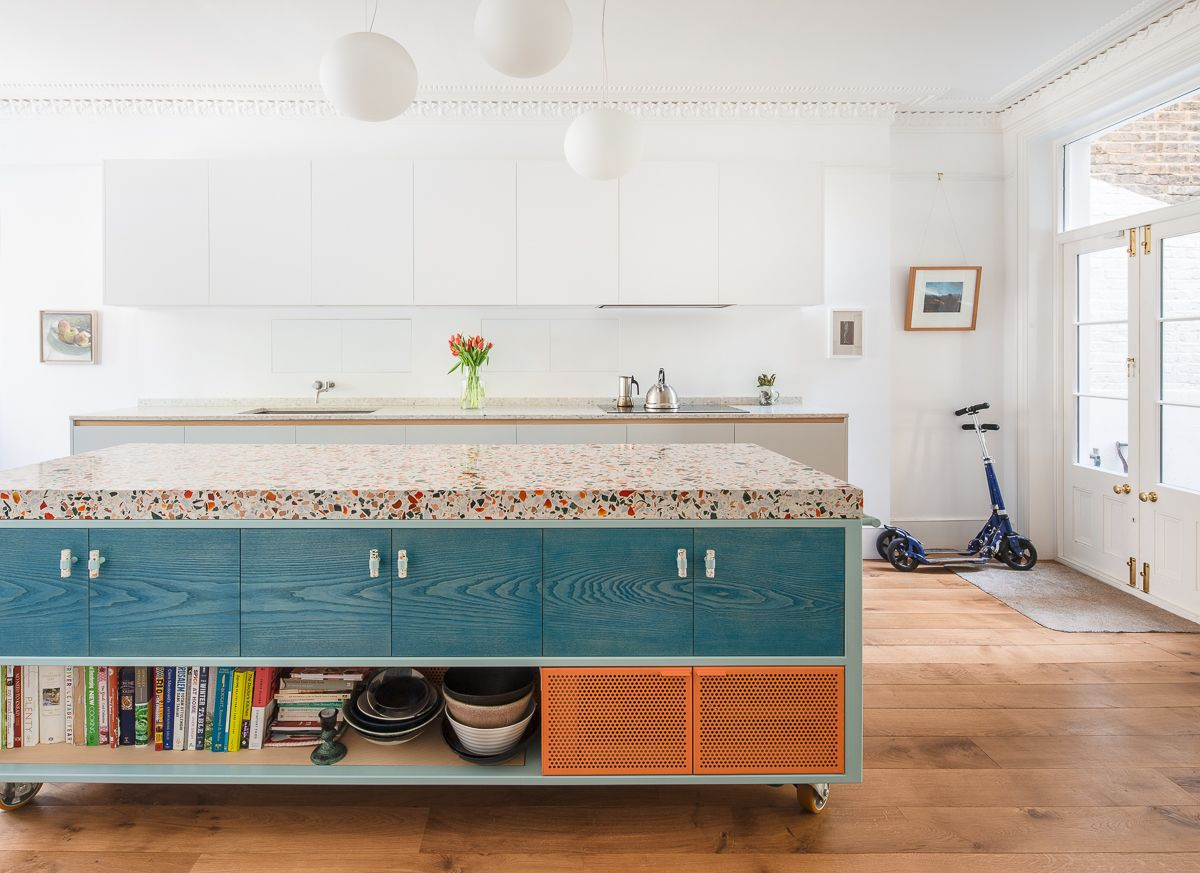 Photo of Diespeker created a beautiful thick bespoke terrazzo worktop in collaboration wi…
