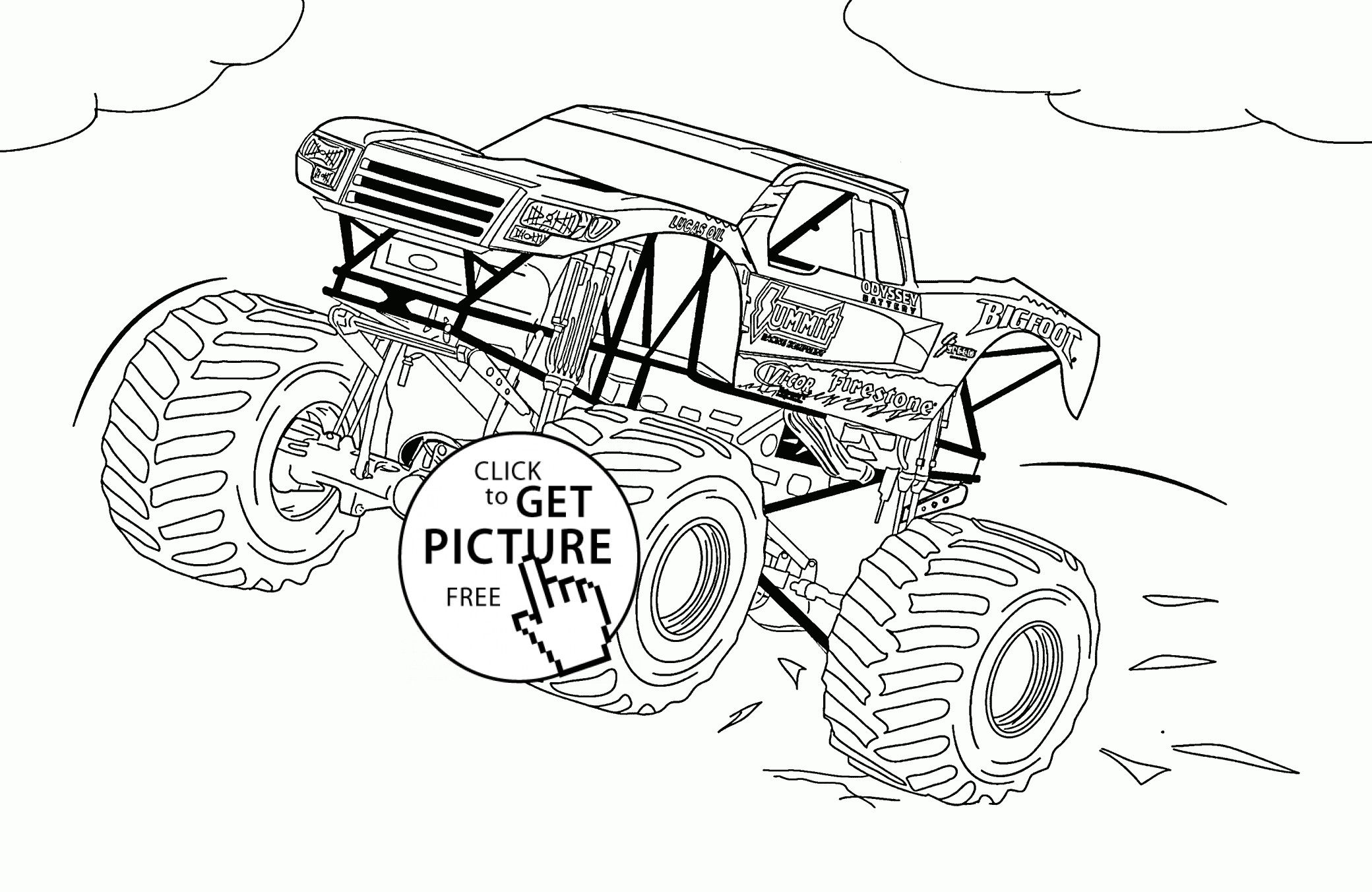 Monster Truck Coloring Pages Awesome Bigfoot Monster Truck Coloring Page For Kids Tran Monster Truck Coloring Pages Truck Coloring Pages Monster Coloring Pages