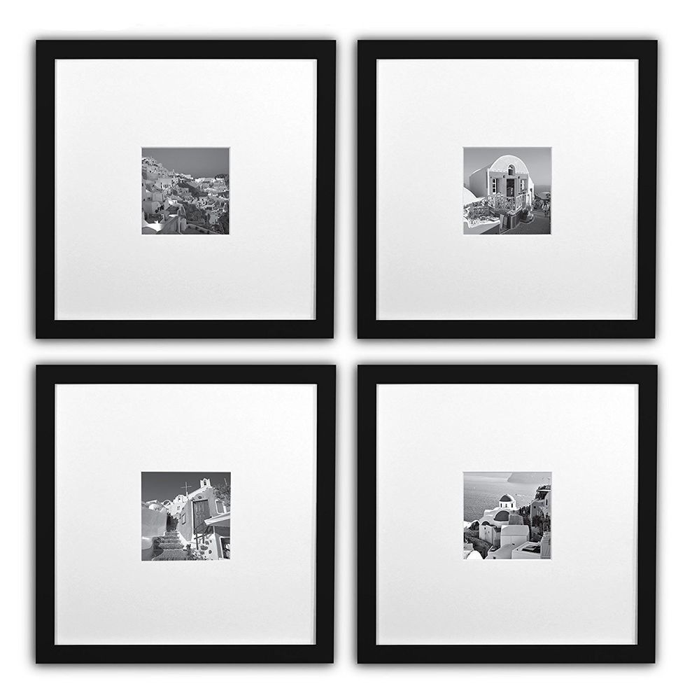 Smartphone Frames Collection Set Of 4 11x11 Inch Square Photo Wood Frames Black Wood Picture Frames Picture On Wood Picture Frames