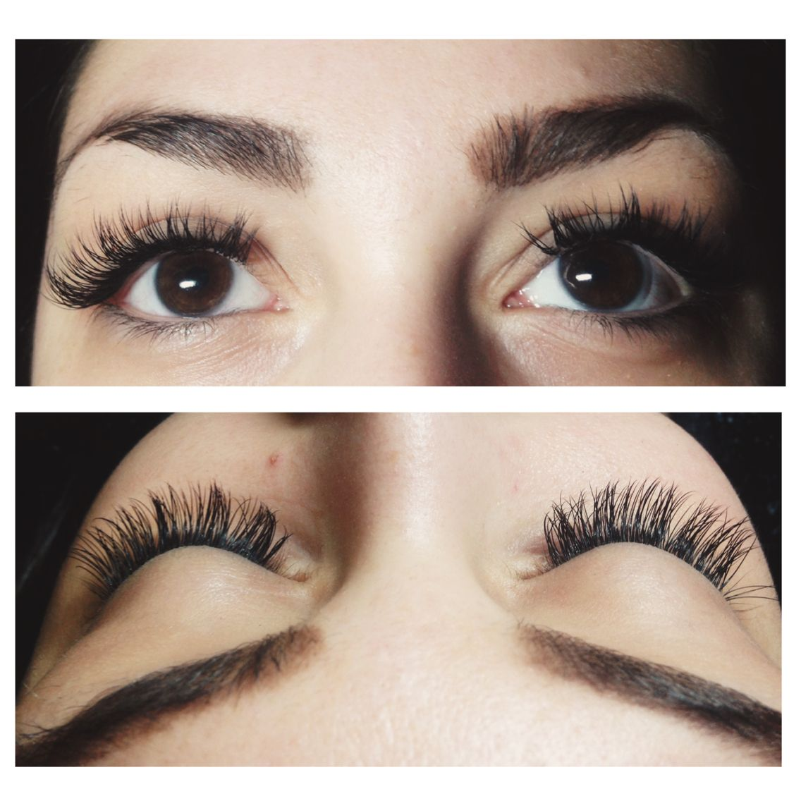 My favorite set of eyelash extensions I did this week on this beauty!