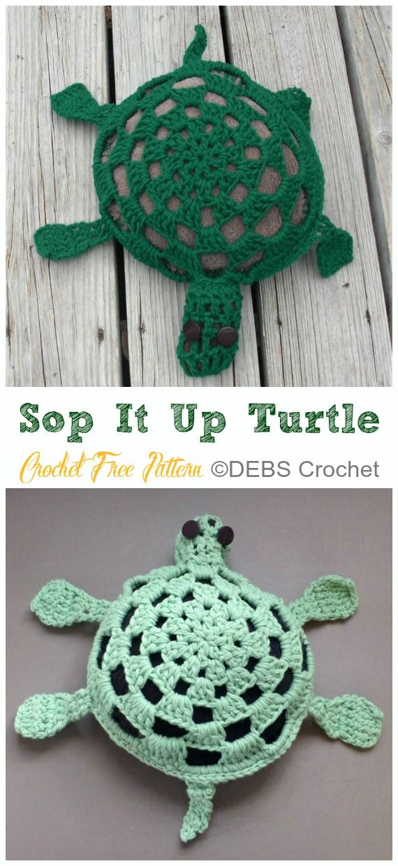 30 Crochet Turtle Amigurumi Toy Softies Free Patterns #crochetturtles