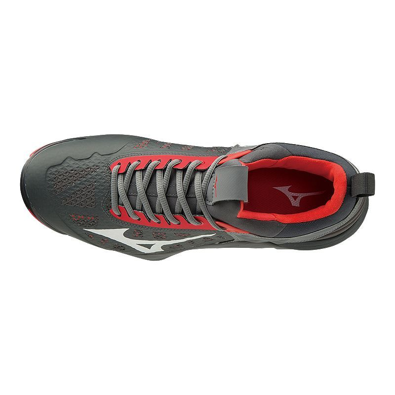 9ff15b4f0a82 Mizuno Men's Wave Momentum Indoor Court Shoes - Red/Grey in 2019 ...