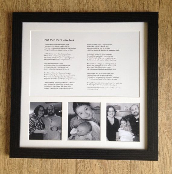 Personalised framed poem (40 lines) with space for photos, custom ...