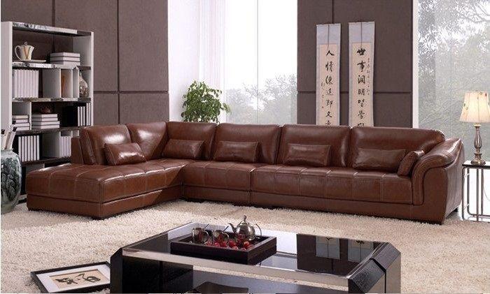Dark Brown L Shape Sofa Design Id513
