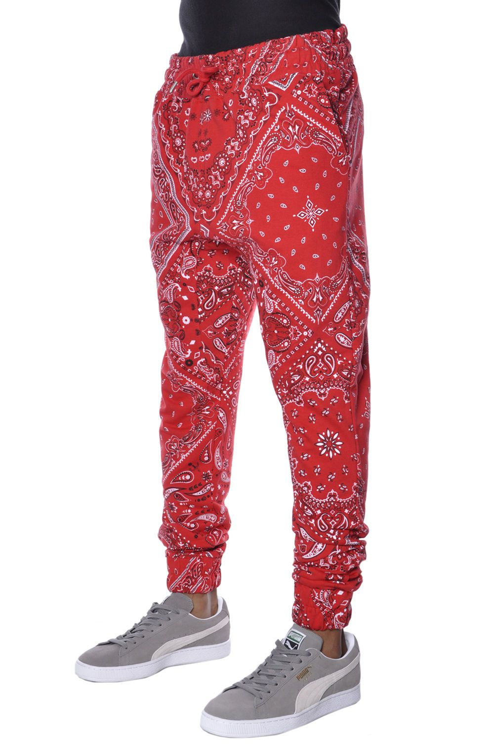 plain red bandana joggers outfit size