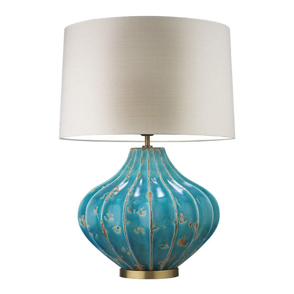 Heathfield U0026 Co Mallory Table Lamp Turquoise