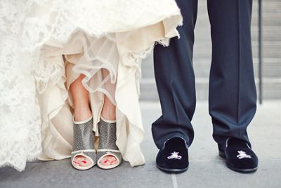 Chanel Booties With Wedding Gown Love Unconventional Shoes Chrie Lim