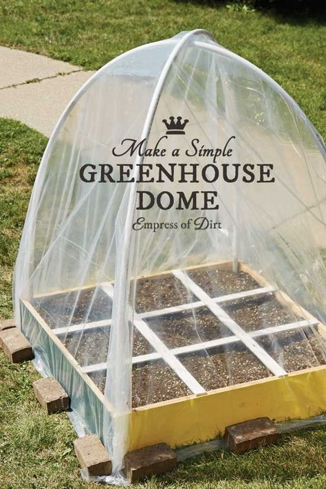 How To Build A Dome Greenhouse Simple Greenhouse Homemade