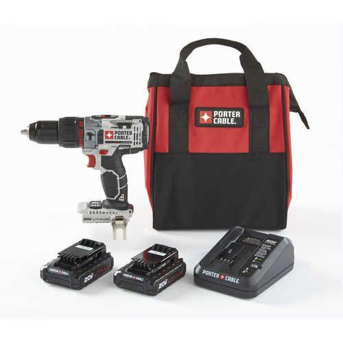 "Porter-Cable 20V MAX 1/2"" Hammer Drill Kit PCC620LB-CPO $84 - http://www.gadgetar.com/porter-cable-20v-max-hammer-drill-kit-pcc620lb-cpo/"
