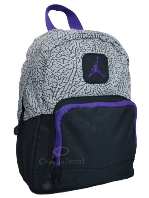 Nike Air Jordan Backpack Gray Black Purple Toddler Preschool Boy Girl Small  Mini  Nike  Backpack  OrlandoTrend  Jordan