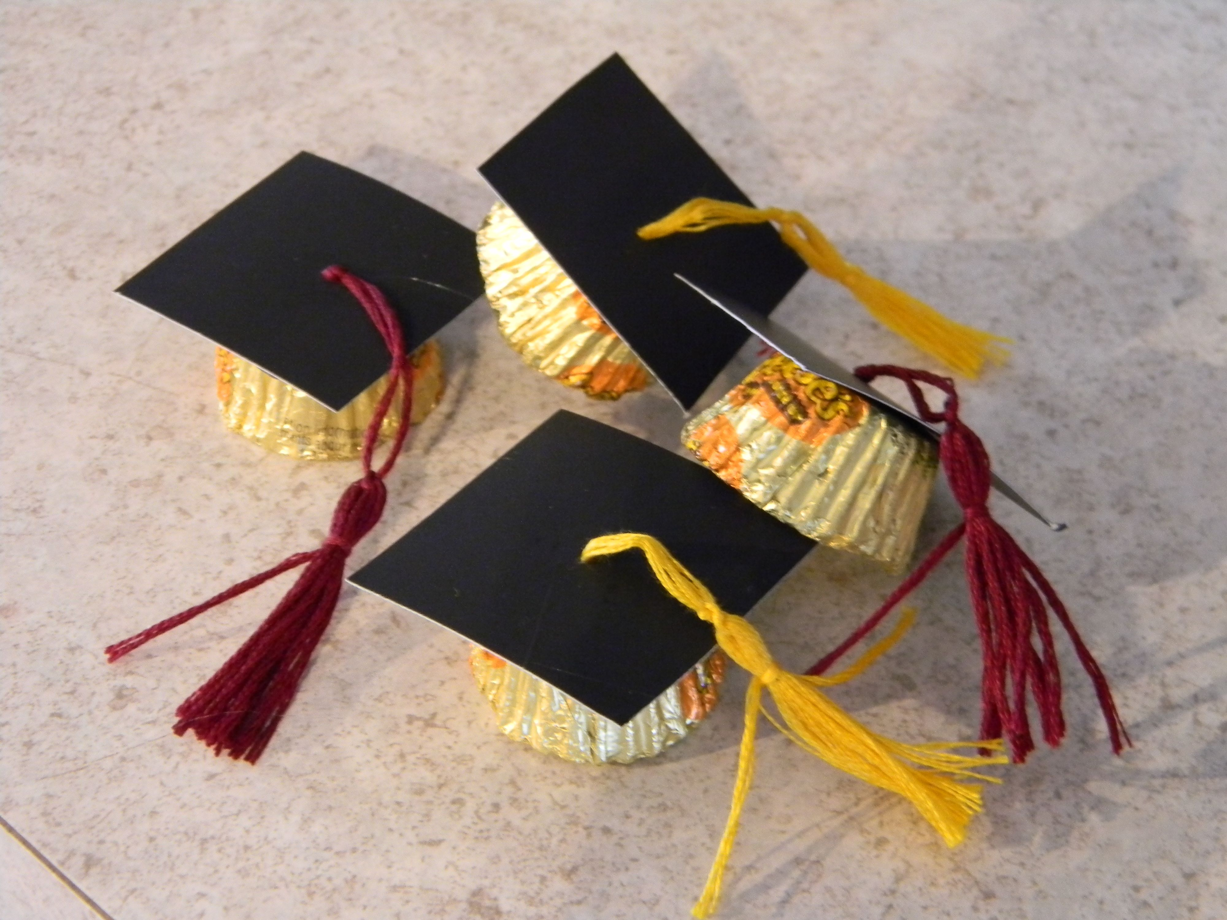 reese cups made into graduation caps graduation ideas
