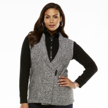 Chaps Marled Sweater Vest - Women's Plus @Kohls | Trend We Love ...