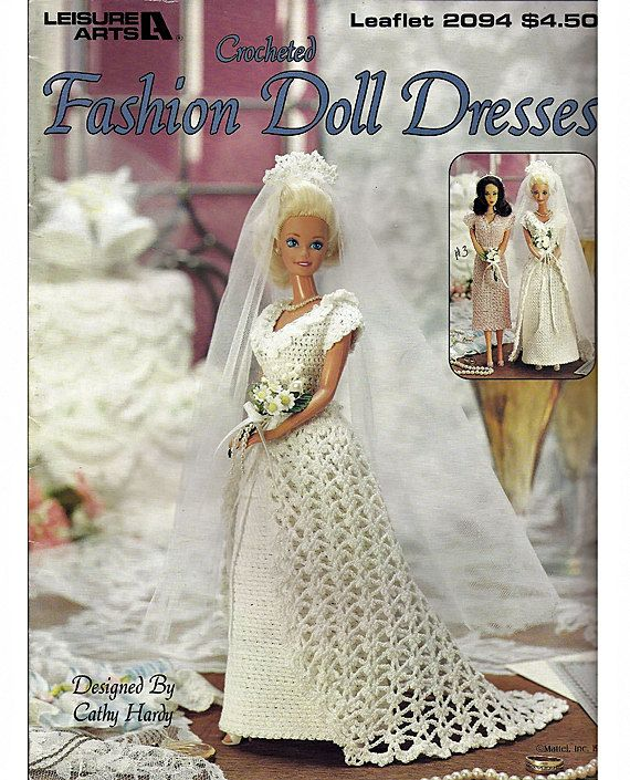 Crocheted Fashion Doll Dresses Pattern for Barbie Leisure Arts ...