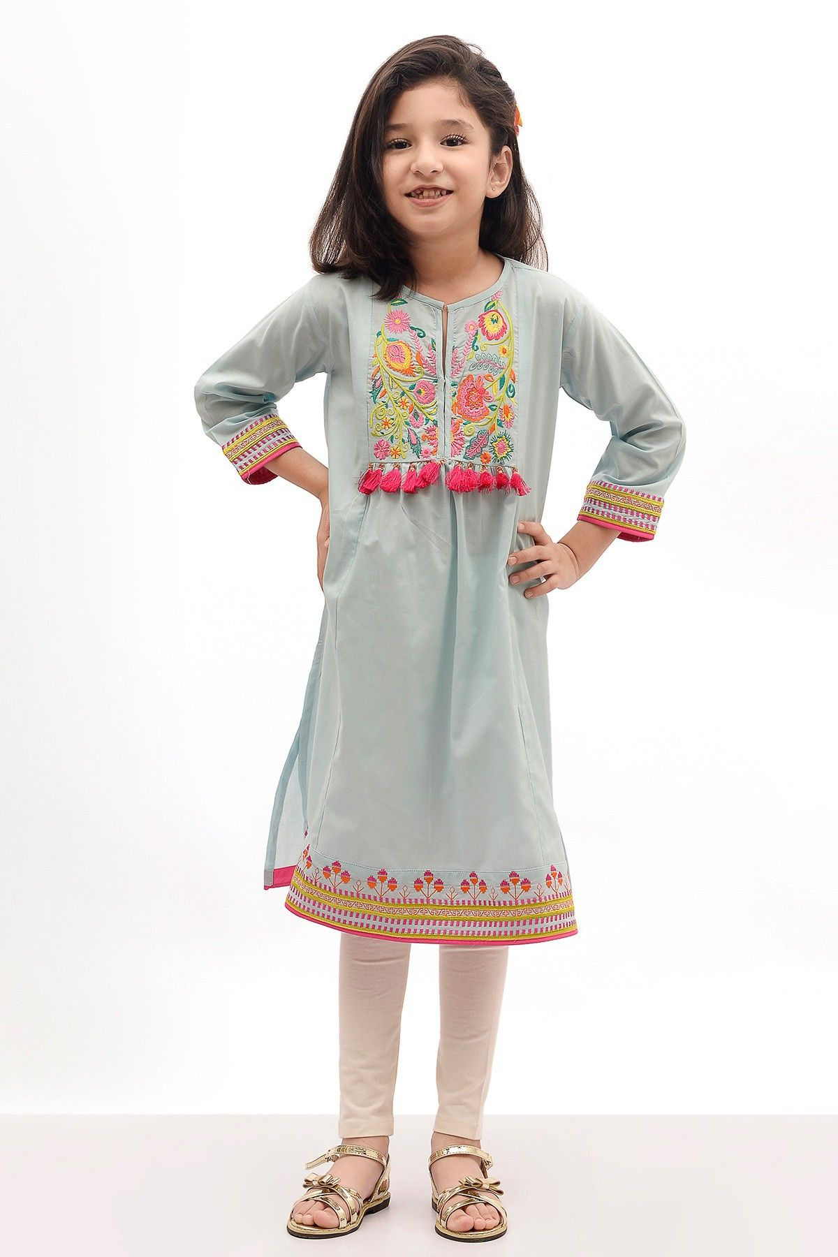 Khaadi Embroidered Kurta New Arrivals Dresses kids